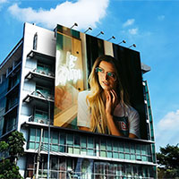 Photo effect - Advertisement on the building