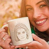 Photo effect - Beautiful woman with a cup