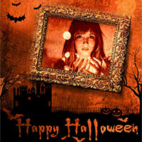 Photo effect - Happy Halloween photo frame