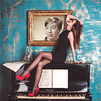 Photo effect - Lady on the piano
