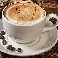 Photo effect - Luxurious texture of cappuccino