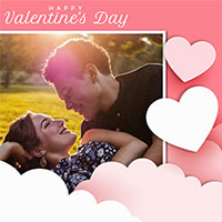 Photo effect - Papercut style Valentines Day card