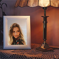 Photo effect - Photo frame in warm light