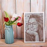 Photo effect - Portrait of you with Spring tulips