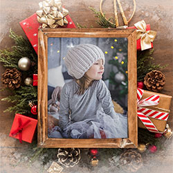 Photo effect - Photo frame for Happy Holidays and New Year