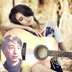 Photo effect - Romantic song of the romantic girl