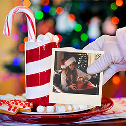 Photo effect - Santa remembers of you