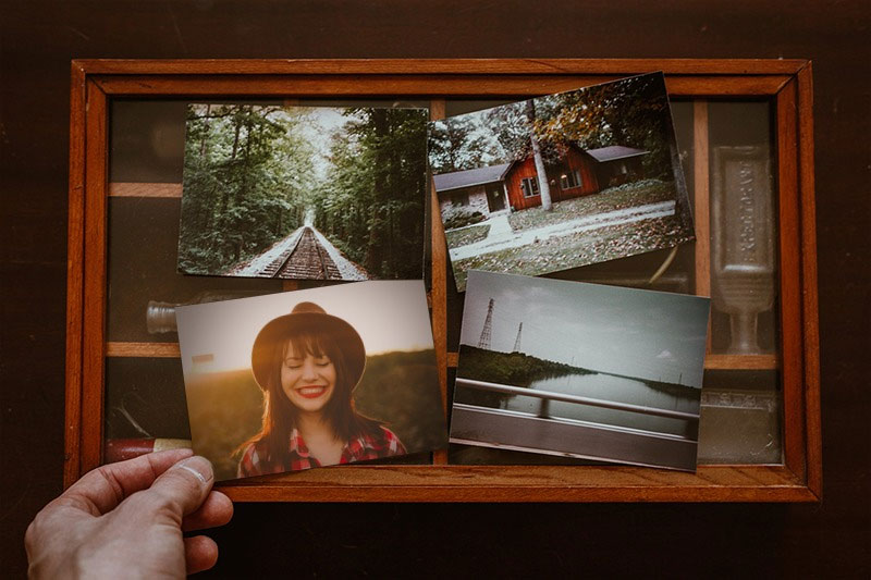 Photo effect - Photo frame with old photos